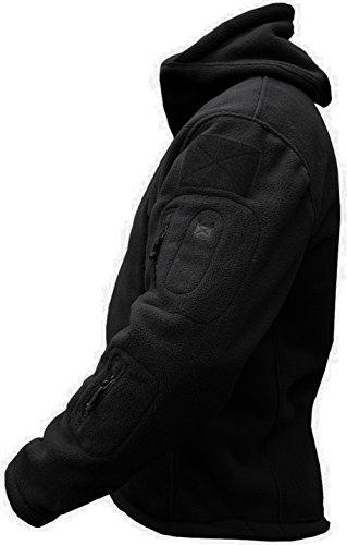 TACVASEN Windproof Men's Military Fleece Combat Jacket Tactical Hoodies 4