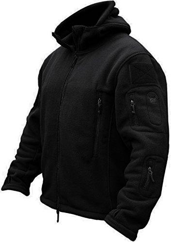 TACVASEN Windproof Men's Military Fleece Combat Jacket Tactical Hoodies 1