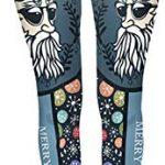 Tamskyt Women's Full Length Christmas Winter Snowflake Santa Reindeer Stocking-Filler Yoga Leggings Gym Fitness Running… 17