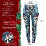 Tamskyt Women's Full Length Christmas Winter Snowflake Santa Reindeer Stocking-Filler Yoga Leggings Gym Fitness Running… 21