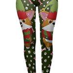 Tamskyt Women's Full Length Christmas Winter Snowflake Santa Reindeer Stocking-Filler Yoga Leggings Gym Fitness Running… 28