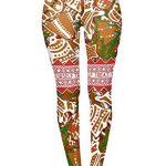 Tamskyt Women's Full Length Christmas Winter Snowflake Santa Reindeer Stocking-Filler Yoga Leggings Gym Fitness Running… 25