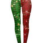 Tamskyt Women's Full Length Christmas Winter Snowflake Santa Reindeer Stocking-Filler Yoga Leggings Gym Fitness Running… 29