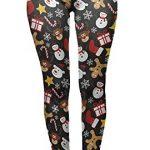 Tamskyt Women's Full Length Christmas Winter Snowflake Santa Reindeer Stocking-Filler Yoga Leggings Gym Fitness Running… 24