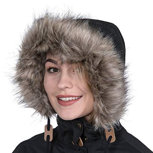 Trespass Clea Womens Padded Waterproof Coat with Hood 5