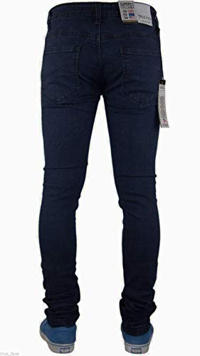 True Face Mens Jeans Skinny Denim Pants Stretch Fit Trouser Zip Fly Elasticated Cotton Bottoms Casual Wear 5 Pockets All… 3