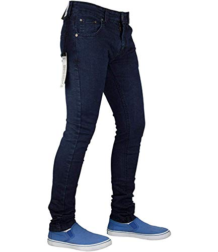True Face Mens Jeans Skinny Denim Pants Stretch Fit Trouser Zip Fly Elasticated Cotton Bottoms Casual Wear 5 Pockets All… 4