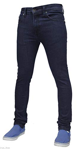 True Face Mens Jeans Skinny Denim Pants Stretch Fit Trouser Zip Fly Elasticated Cotton Bottoms Casual Wear 5 Pockets All… 5