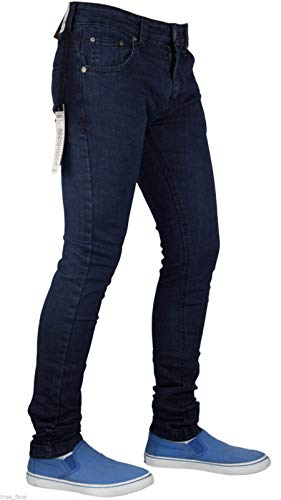 True Face Mens Jeans Skinny Denim Pants Stretch Fit Trouser Zip Fly Elasticated Cotton Bottoms Casual Wear 5 Pockets All… 6