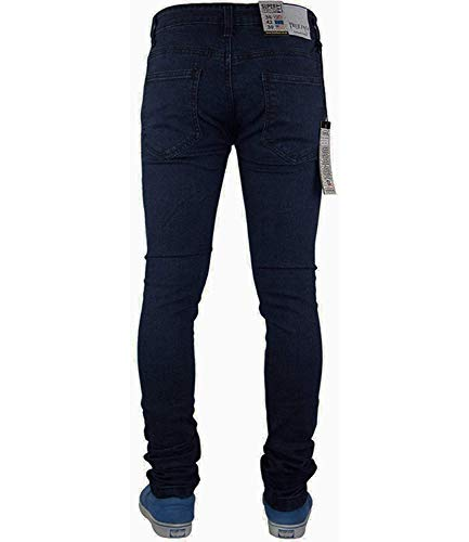 True Face Mens Jeans Skinny Denim Pants Stretch Fit Trouser Zip Fly Elasticated Cotton Bottoms Casual Wear 5 Pockets All… 7