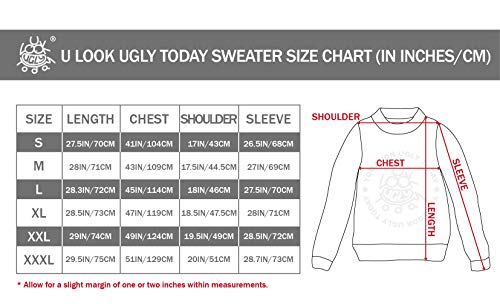 Ugly Christmas Sweater for Men, Funny Chunky Knit Xmas Pullover Festive Fair Isle Crowdneck Long Sleeve Jumper for… 3
