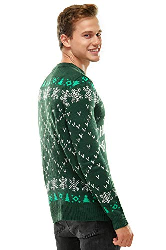 Ugly Christmas Sweater for Men, Funny Chunky Knit Xmas Pullover Festive Fair Isle Crowdneck Long Sleeve Jumper for… 4