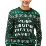 Ugly Christmas Sweater for Men, Funny Chunky Knit Xmas Pullover Festive Fair Isle Crowdneck Long Sleeve Jumper for… 15