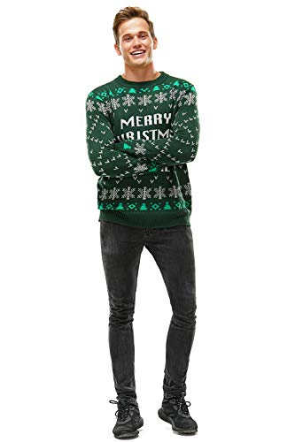 Ugly Christmas Sweater for Men, Funny Chunky Knit Xmas Pullover Festive Fair Isle Crowdneck Long Sleeve Jumper for… 5