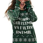 Ugly Christmas Sweater for Men, Funny Chunky Knit Xmas Pullover Festive Fair Isle Crowdneck Long Sleeve Jumper for… 20