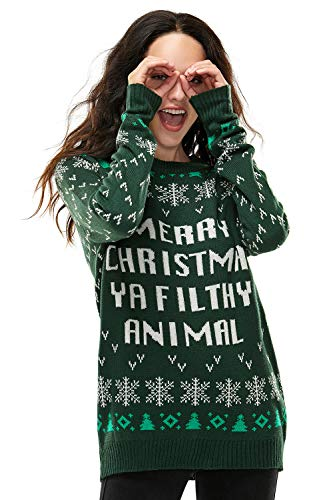 Ugly Christmas Sweater for Men, Funny Chunky Knit Xmas Pullover Festive Fair Isle Crowdneck Long Sleeve Jumper for… 7