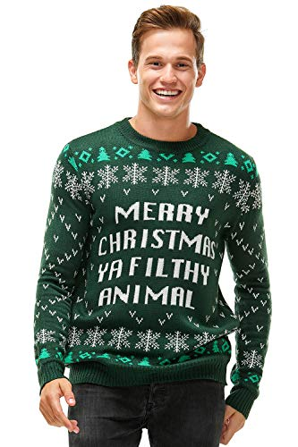 Ugly Christmas Sweater for Men, Funny Chunky Knit Xmas Pullover Festive Fair Isle Crowdneck Long Sleeve Jumper for… 1