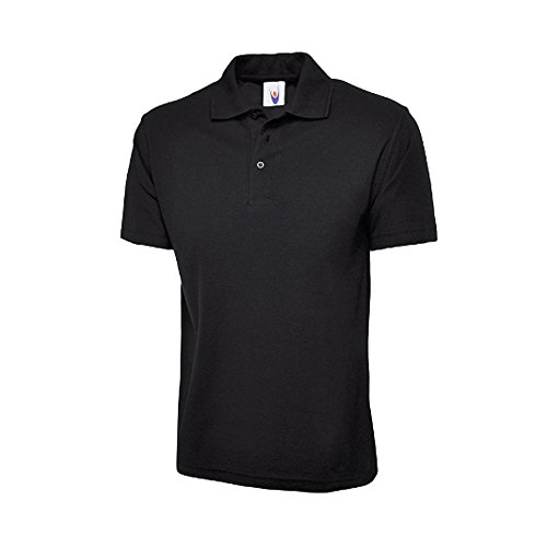 Uneek UC101 Polyester/Cotton Unisex Classic Pique Polo Shirt with Knitted Collar and Hemmed Sleeve 1