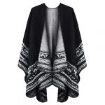 VBIGER Women Winter Poncho Oversized Warm Blanket Cape Wraps Shawl Cardigans 15