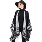 VBIGER Women Winter Poncho Oversized Warm Blanket Cape Wraps Shawl Cardigans 18