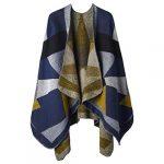 VBIGER Women Winter Poncho Oversized Warm Blanket Cape Wraps Shawl Cardigans 23