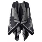 VBIGER Women Winter Poncho Oversized Warm Blanket Cape Wraps Shawl Cardigans 25