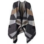VBIGER Women Winter Poncho Oversized Warm Blanket Cape Wraps Shawl Cardigans 26
