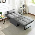 Vonanda Ottoman Sleeper Chair Bed,Mid-Century Soft Tufted Velvet Folding Sofa Bed with Unique Sense of Gloss,Convertible… 22