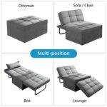 Vonanda Ottoman Sleeper Chair Bed,Mid-Century Soft Tufted Velvet Folding Sofa Bed with Unique Sense of Gloss,Convertible… 27