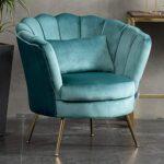 WamieHomy Armchair Velvet Upholstered Lotus Oyster Shell Occasional Tub Chair for Living Room Bedroom Reception… 21