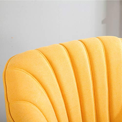 Wamiehomy Modern Suede Fabric Armchair Tub Occasional Chair with Solid Wood Legs for Living Room Bedroom Reception… 4