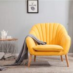 Wamiehomy Modern Suede Fabric Armchair Tub Occasional Chair with Solid Wood Legs for Living Room Bedroom Reception… 15