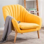 Wamiehomy Modern Suede Fabric Armchair Tub Occasional Chair with Solid Wood Legs for Living Room Bedroom Reception… 20