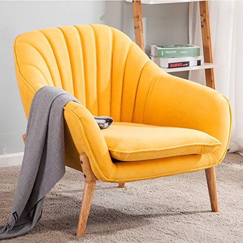 Wamiehomy Modern Suede Fabric Armchair Tub Occasional Chair with Solid Wood Legs for Living Room Bedroom Reception… 7
