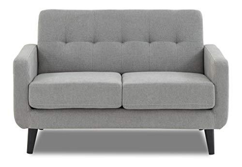 WeDoSofas Grey Sofa Fabric 2 Seater - New, Light Grey, Wooden Legs 3