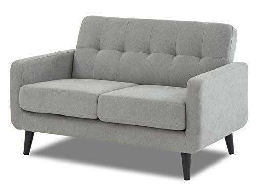 WeDoSofas Grey Sofa Fabric 2 Seater - New, Light Grey, Wooden Legs 4