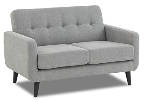 WeDoSofas Grey Sofa Fabric 2 Seater - New, Light Grey, Wooden Legs 1