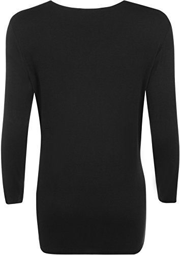 WearAll Ladies Long Sleeve T-Shirt Top Womens Plus Sizes 3