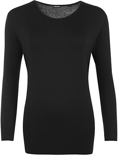 WearAll Ladies Long Sleeve T-Shirt Top Womens Plus Sizes 1