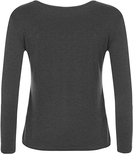 WearAll Ladies Long Sleeve T-Shirt Top Womens Size 8-14 3