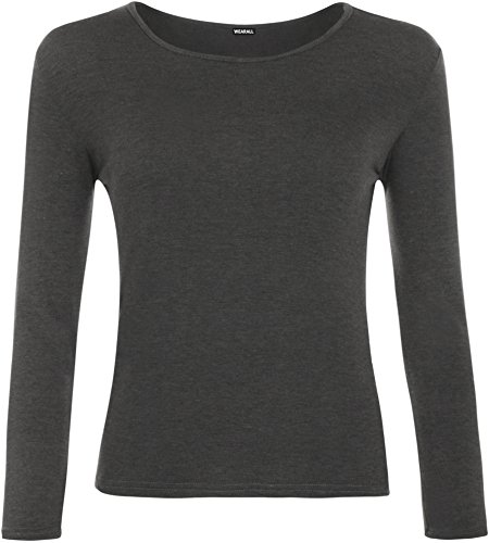 WearAll Ladies Long Sleeve T-Shirt Top Womens Size 8-14 1