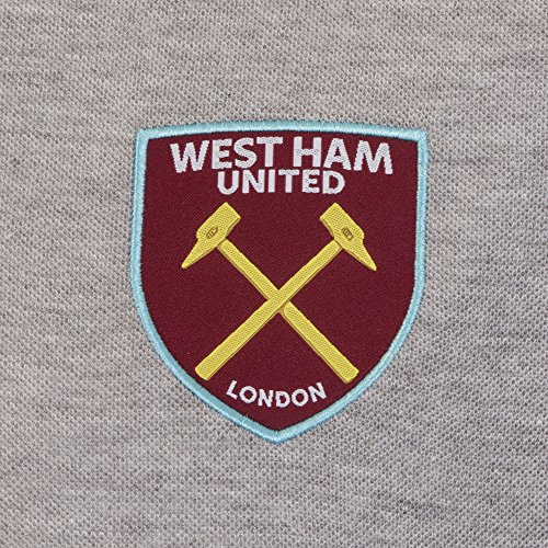West Ham United FC Official Football Gift Mens Crest Polo Shirt 3