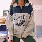 Women Christmas Sweatshirt O-Neck Pullover Tops Novelty Funny Graphic Long Sleeve T-Shirts Xmas Holiday Casual… 13