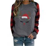 Women Christmas Sweatshirt O-Neck Pullover Tops Novelty Funny Graphic Long Sleeve T-Shirts Xmas Holiday Casual… 15
