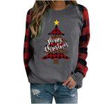 Women Christmas Sweatshirt O-Neck Pullover Tops Novelty Funny Graphic Long Sleeve T-Shirts Xmas Holiday Casual… 16
