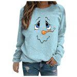 Women Christmas Sweatshirt O-Neck Pullover Tops Novelty Funny Graphic Long Sleeve T-Shirts Xmas Holiday Casual… 17