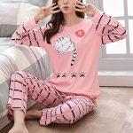 Women Pajamas Set Winter Pajamas for Women Thin Cartoon Pijamas Printed Pijama Women Long Sleeve Cute Sleepwear Casual 12