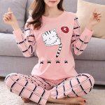 Women Pajamas Set Winter Pajamas for Women Thin Cartoon Pijamas Printed Pijama Women Long Sleeve Cute Sleepwear Casual 11