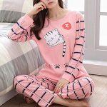 Women Pajamas Set Winter Pajamas for Women Thin Cartoon Pijamas Printed Pijama Women Long Sleeve Cute Sleepwear Casual 14
