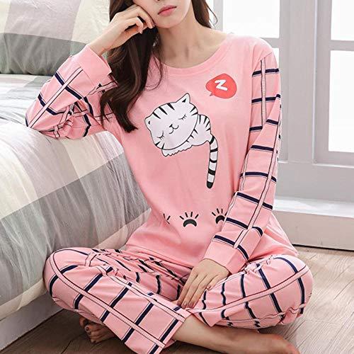 Women Pajamas Set Winter Pajamas for Women Thin Cartoon Pijamas Printed Pijama Women Long Sleeve Cute Sleepwear Casual 5